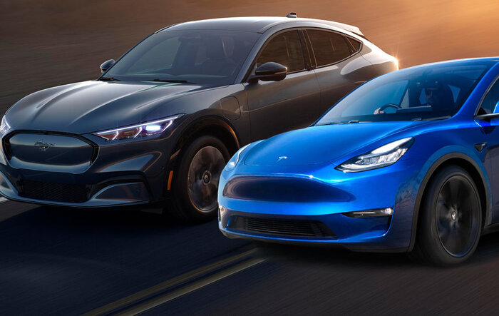 Edmunds: Mach E vs. Tesla Model Y comparison review