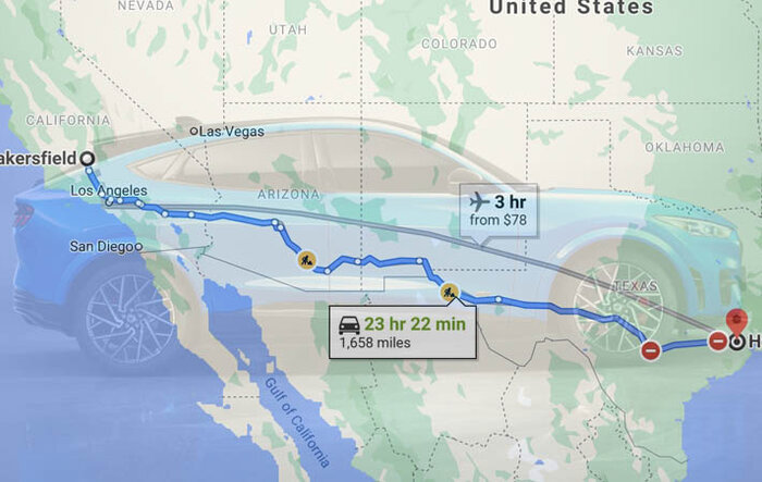 🗺 Ongoing Trip Journal: Driving Mach-E From Bakersfield, California to Houston, Texas