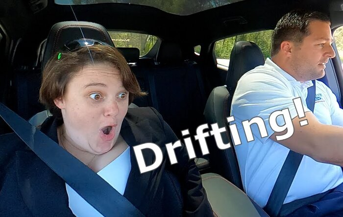 Drifting the Mustang Mach-E! Reactions!