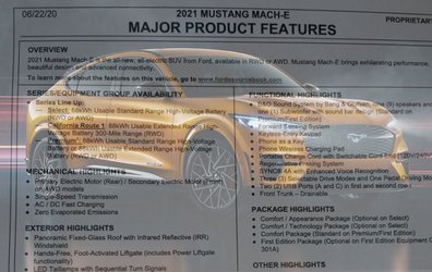 2021 Mach-E Mustang Order Guide